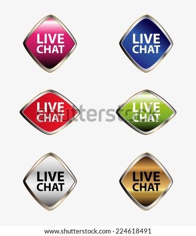 Live chat icon  - stock vector