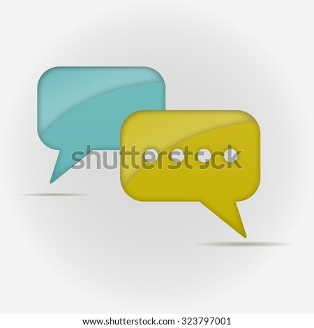 live chat speech balloons icon illustration