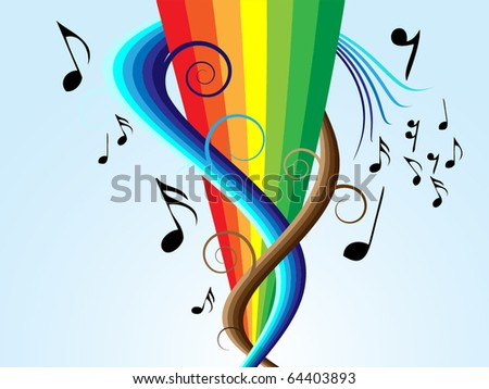 live music wave - stock vector
