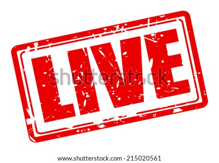 Live red stamp text on white - stock vector