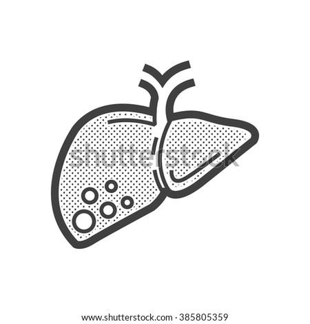 liver cancer icon - stock vector