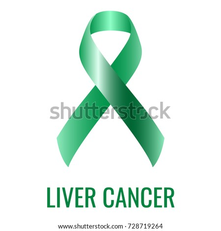 Liver Cancer Ribbon Isolated On White Stock Photo Photo Vector