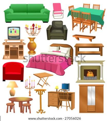 Living Room Furniture Stock Vector 27056026 Shutterstock