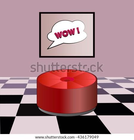 living room in pop art style - stock vector