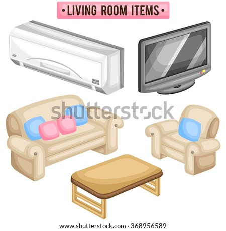 Cartoon Living Room Stock Images Royalty Free Vectors
