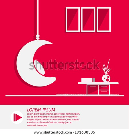 Living Room vector illustrator - stock vector