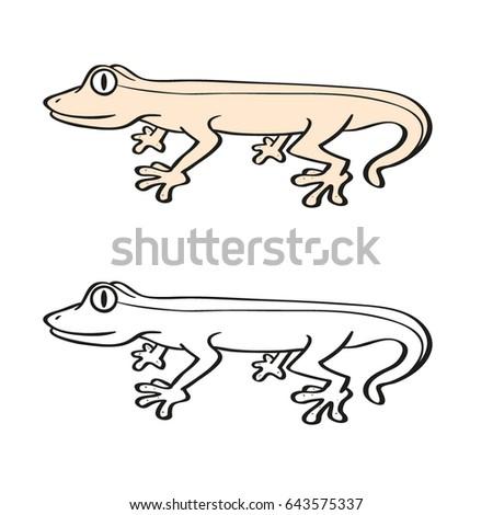 Lizard Kids Coloring Exercises Stock Vector 643575337 - Shutterstock
