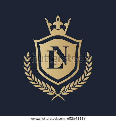 Stock Vector Ln Logo Initial Monogram Ft