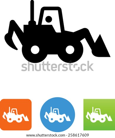 Loader symbol for download. Vector icons for video, mobile apps, Web sites and print projects.  - stock vector