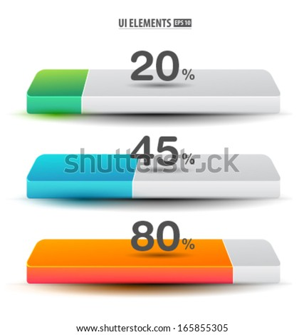 Loaders. Clean loading icons. Preloaders and progress loading bars - stock vector
