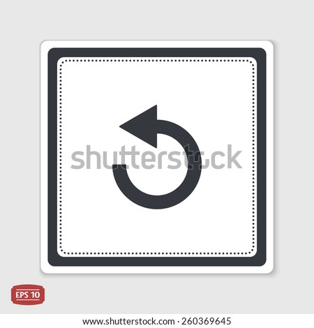 Loading and Buffering Icon. Flat design style. Made in vector illustration. Emblem or label with shadow. - stock vector