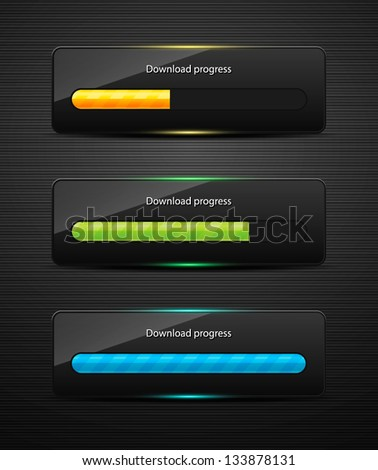 Loading bars for web design. Vector illustration for your business website or app. - stock vector