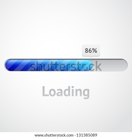 loading complete - stock vector