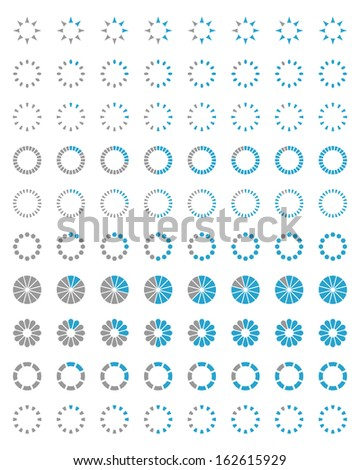 Loading icons. Set 2 - stock vector
