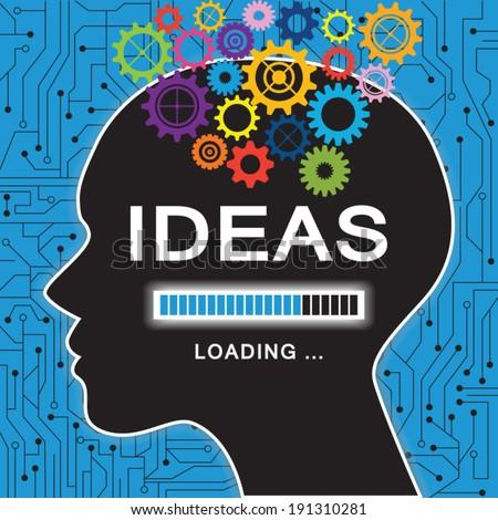 Loading ideas concept - stock vector