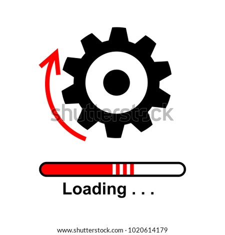 Loading software flat icon. Vector graphic illustration.