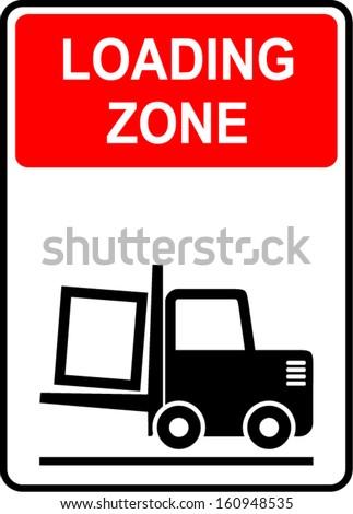 Loading zone - stock vector