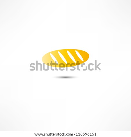 Loaf Of Bread Icon - stock vector