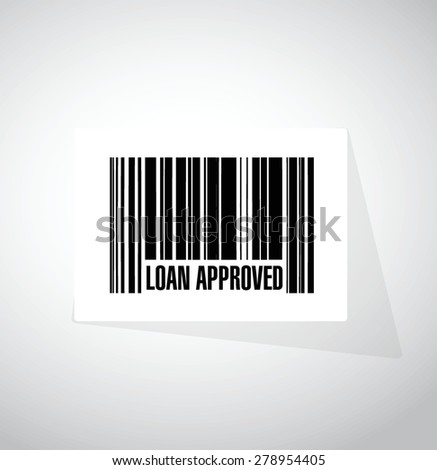 loan approved barcode sign concept illustration design over white - stock vector