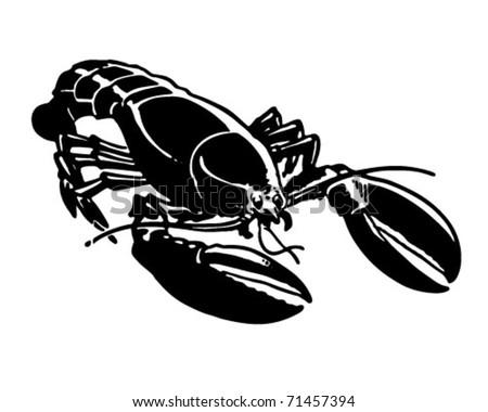 Lobster - Retro Ad Art Illustration - stock vector