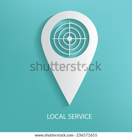 Local service symbol on blue background,clean vector - stock vector