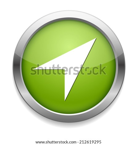 location button - stock vector