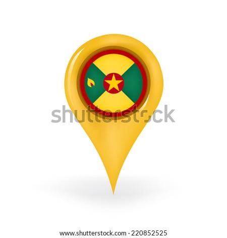 Location Grenada - stock vector