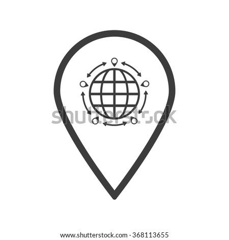 location icon, map icon - stock vector