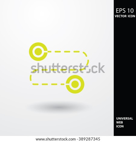 Location icons. - stock vector