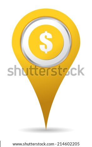 location money icon with sign - stock vector