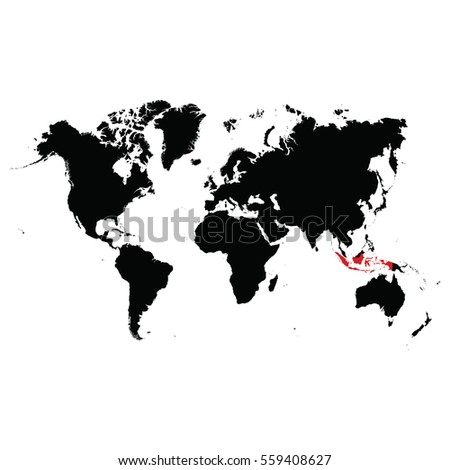 Location indonesia on world map stock vector 559408627 shutterstock location of indonesia on the world map gumiabroncs Gallery