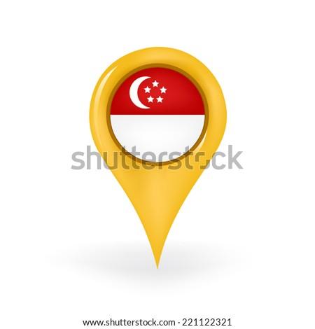 Location Singapore - stock vector