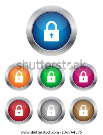 Lock buttons - stock vector
