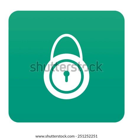 Lock icon - stock vector