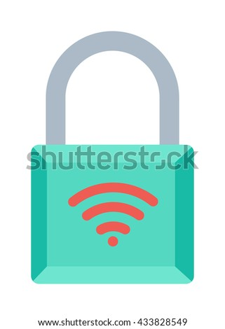 Lock icon and security padlock protection lock. Safety password sign lock privacy element and access shape lock. Private lock set safeguard equipment vector collection. - stock vector