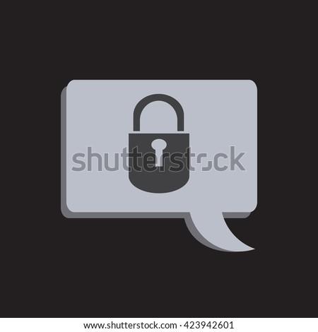 Lock Icon Fill Black - stock vector