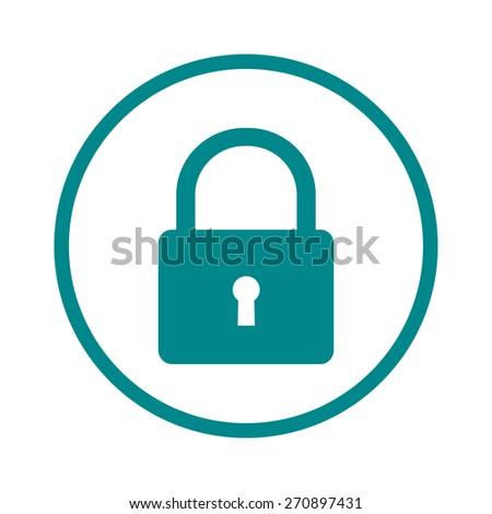 Lock icon.  Flat design style. Vector EPS10. - stock vector