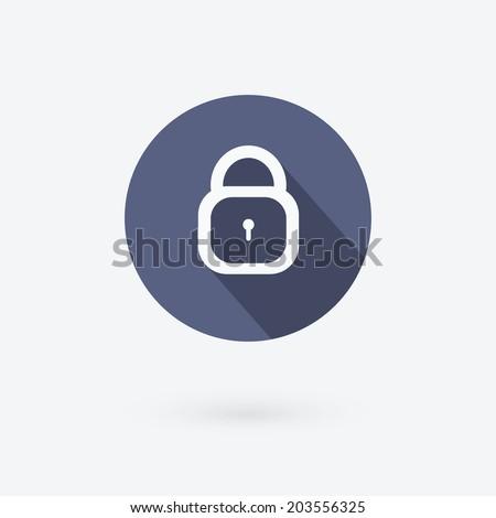 Lock icon. Flat vector illustration. - stock vector