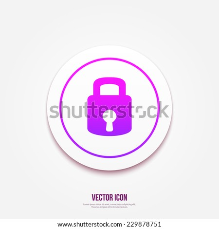 Lock icon. Modern style vector illustration. Isolated on gray background - stock vector