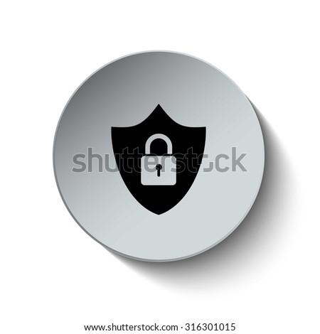 Lock icon. Security icon. Vector Illustration. EPS10 - stock vector