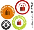 Lock icon set. Vector set. - stock photo