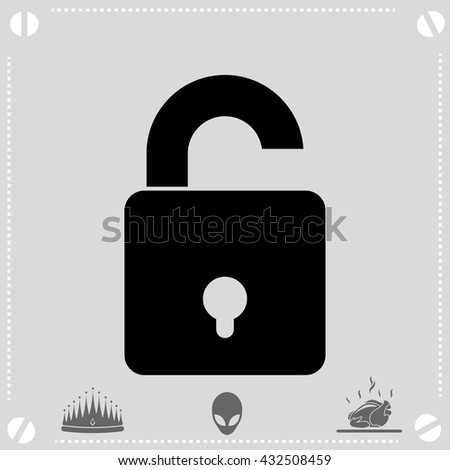 Lock icon. Simple black vector symbol. Logo for web. Image for business.