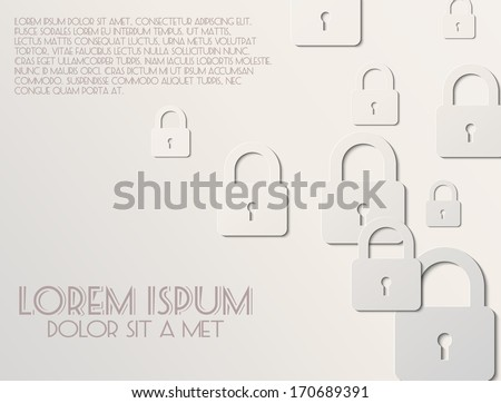 Lock icon the white background - stock vector