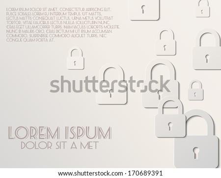 Lock icon the white background - stock vector