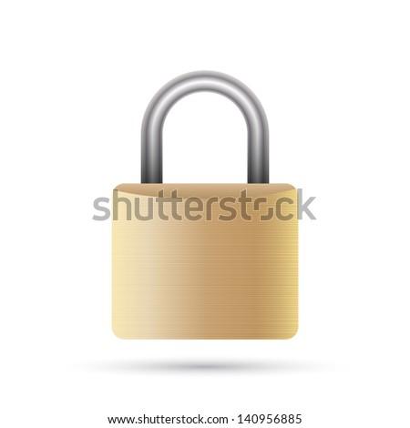 Lock icon. Vector illustration - stock vector