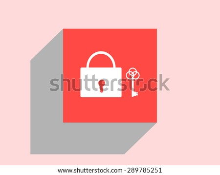 lock icon, vector illustration. Flat design style. - stock vector