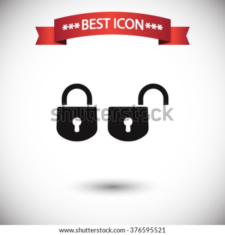 Lock icon vector, lock icon eps10, lock icon picture, lock icon flat, lock icon, lock web icon, lock icon art, lock icon drawing, lock icon, lock icon jpg, lock icon object, lock icon illustration - stock vector