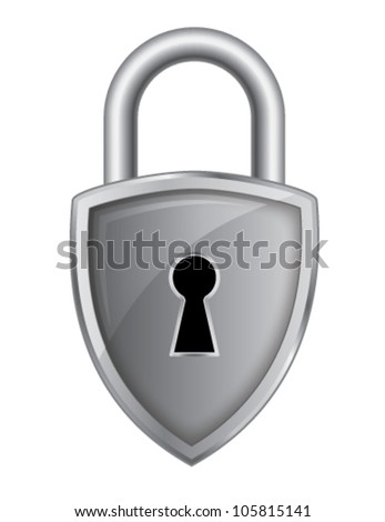 Lock Pad Security Logo - stock vector