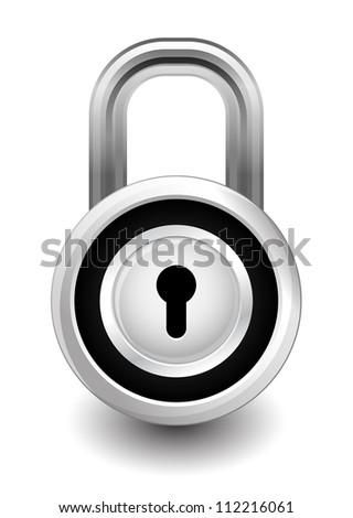 lock security - stock vector