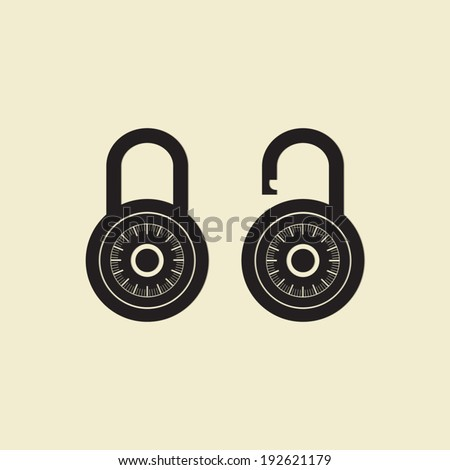 Locks icon - Vector - stock vector